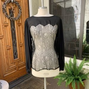 CHANEL Vintage Silk and Lace Top European Size 38